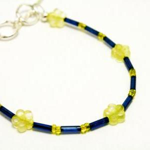 CLEARANCE Blue and Yellow Glass Dai..