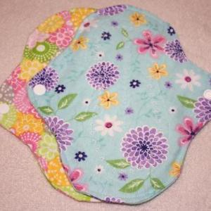 Two, 7 inch Washable Menstrual Pads..