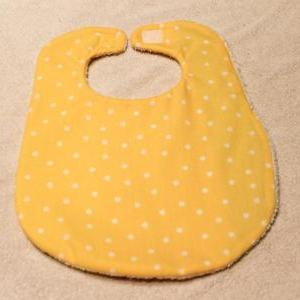 Yellow Polka Dot Baby Bib