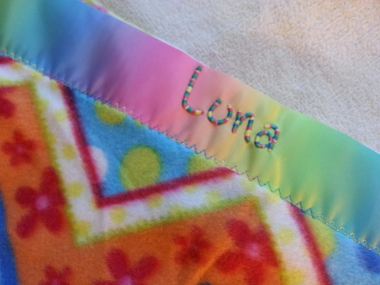 CUSTOM NAME Embroidered Fleece Blanket