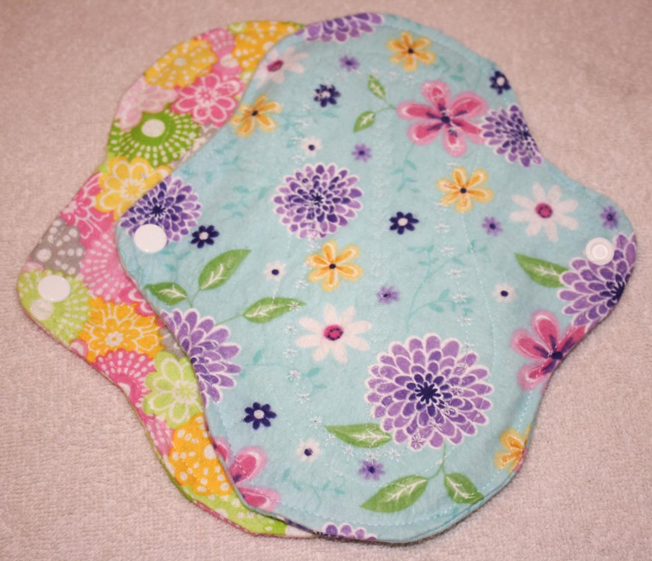 Two, 7 inch Washable Menstrual Pads CHOOSE YOUR PRINT
