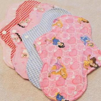 Five, 10 inch Washable Menstrual Pads CHOOSE YOUR PRINT