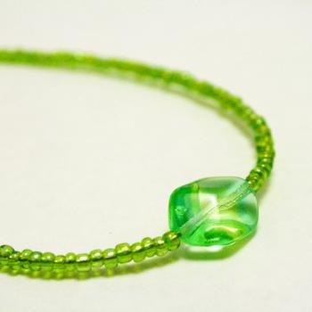 CLEARANCE Lime Green Seed Bead Bracelet